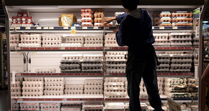 Ovos no hípermercado, Washington, EUA