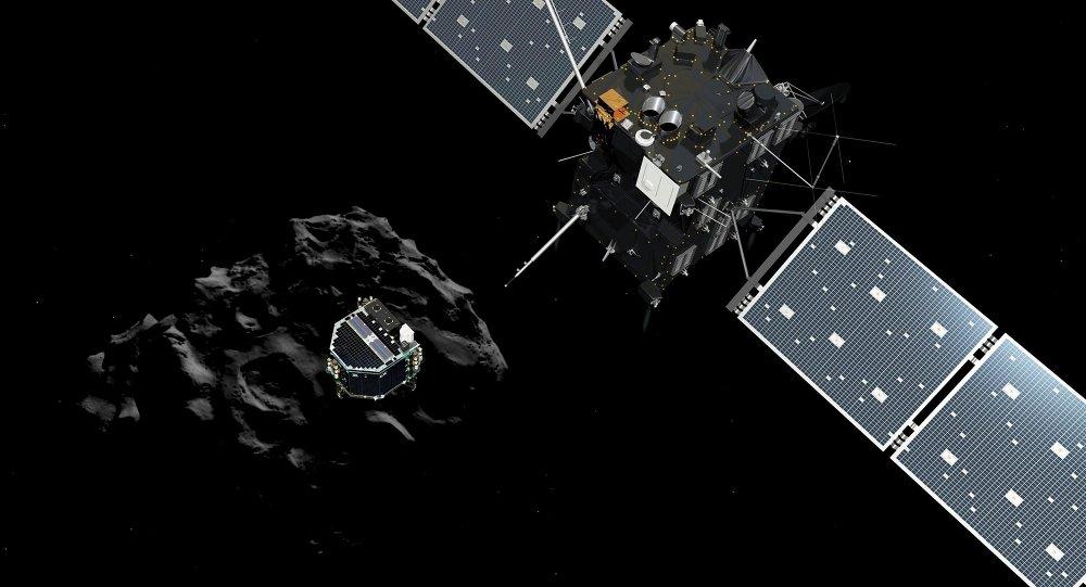 Sonda espacial Rosetta avalia o tamanho, forma e propriedades físicas das partículas de matéria liberadas a partir da cauda do cometa