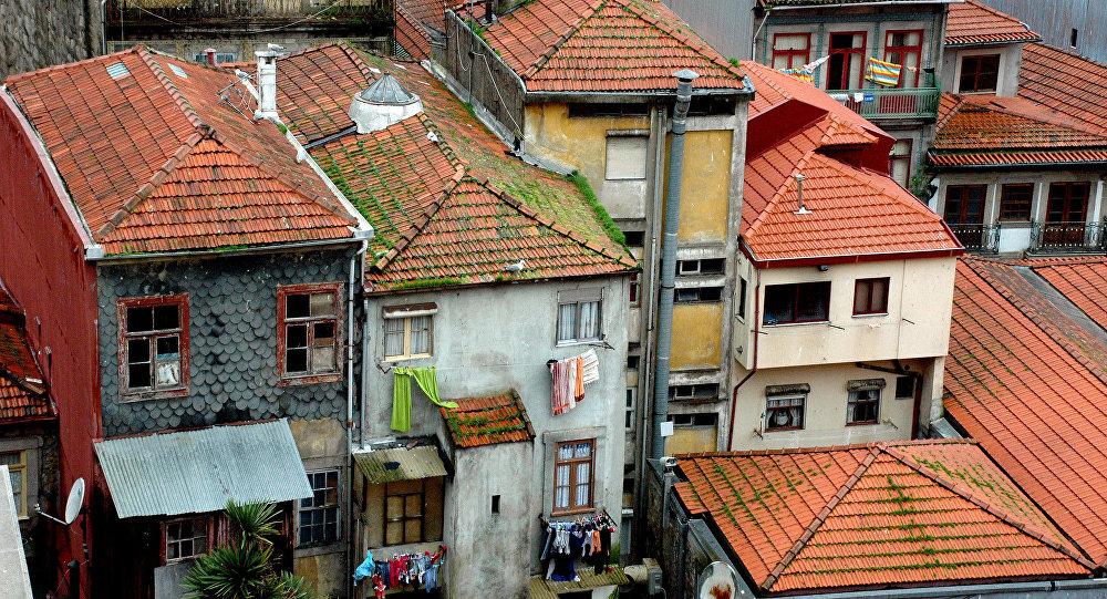 Casas na cidade portuguesa
