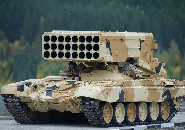 Sistema de lança-foguetes múltiplo pesado TOS-1 Buratino