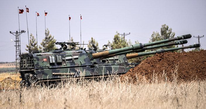 Tanque turco na fronteira com a Síria, 3 de setembro de 2016