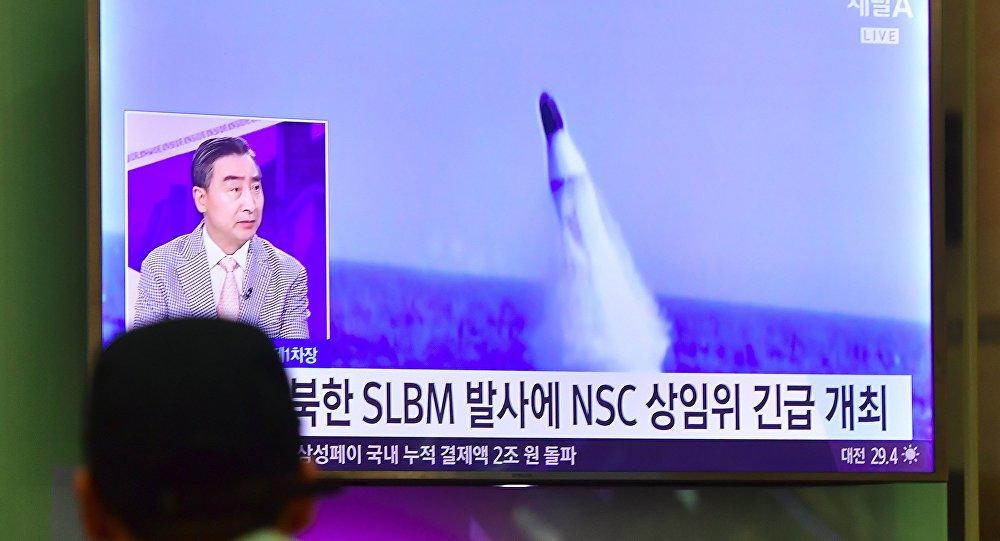 Mais três mísseis balísticos lançados pela Coreia do Norte