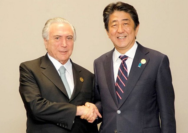 Michel Temer durante encontro bilateral com o primeiro-ministro do Japão,  Shinzo Abe, na cúpula do G20