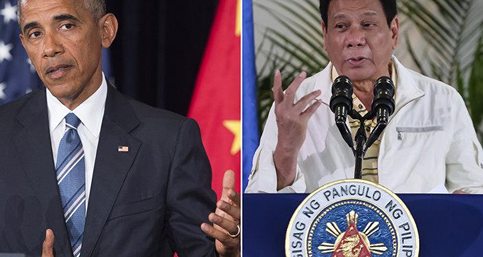 Combinação de fotos do presidente norte-americano Barack Obama e presidente filipino Rodrigo Duterte (foto de arquivo)