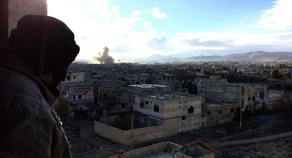 Distrito de Darayya, no subúrbio de Damasco