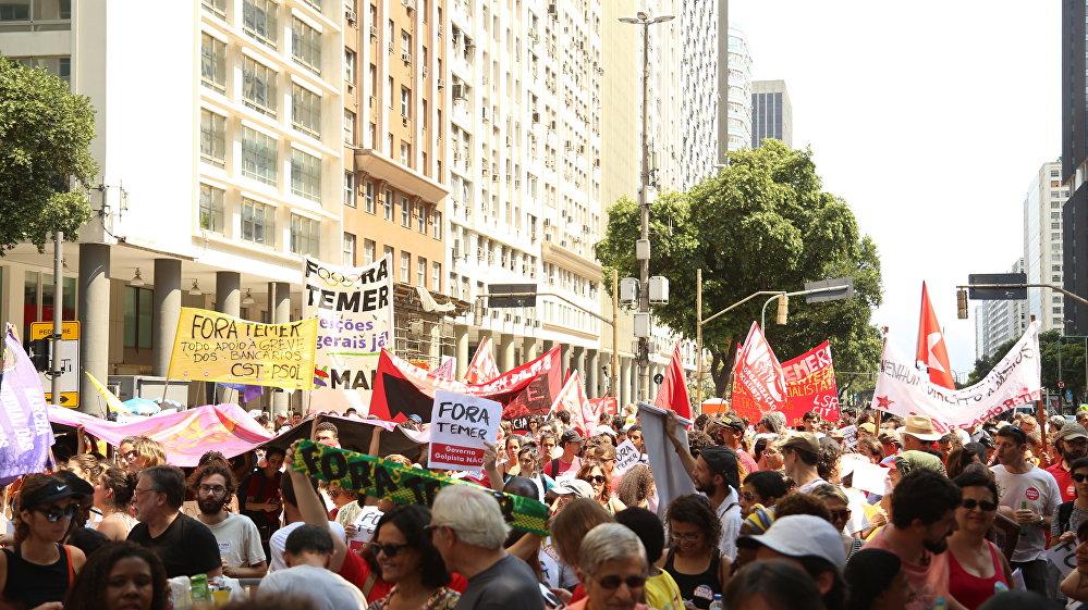 Manifestação 'Fora Temer' no feriado de 7 de Setembro no Rio de Janeiro