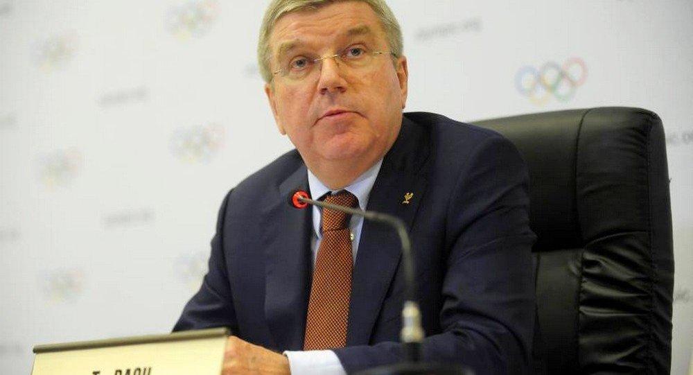 Presidente do COI, Thomas Bach