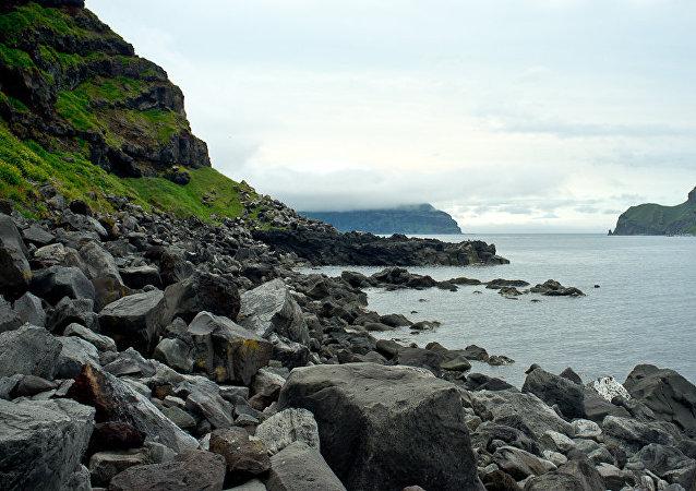 Vista das ilhas Curilas