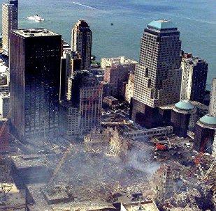 Nova York destruida depois dos atentados terroristas em 11 de setembro (arquivo)
