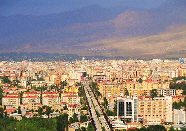 Centro da cidade de Van, Turquia