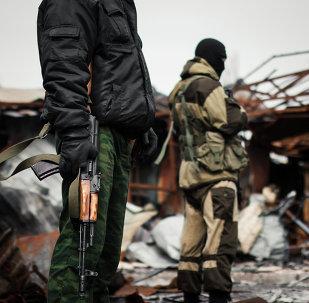 Forças ucranianas atuando em Donbass