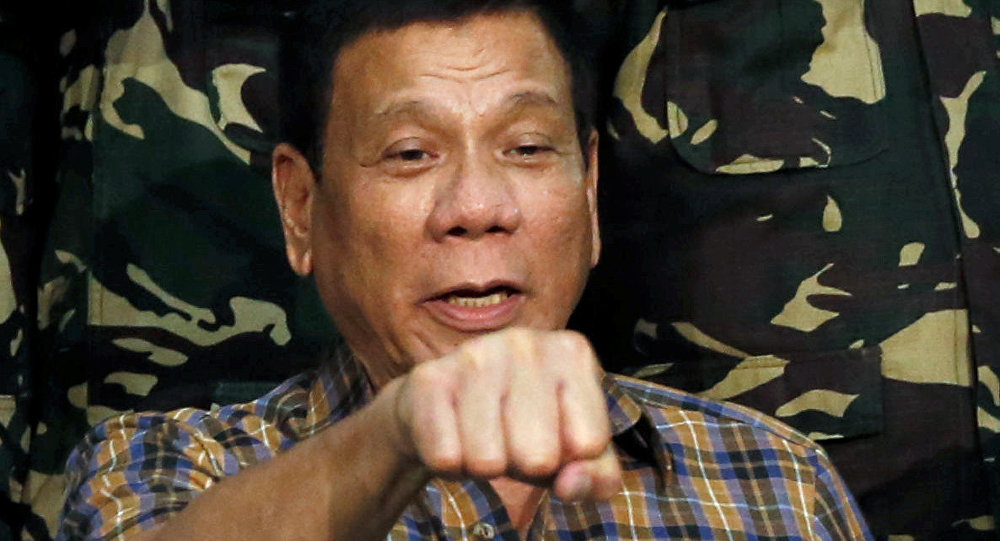 Prisidente das Filipinas Rodrigo Duterte (foto de arquivo)