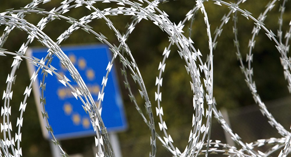 A cerca na fronteira entre Hungria e Eslovênia
