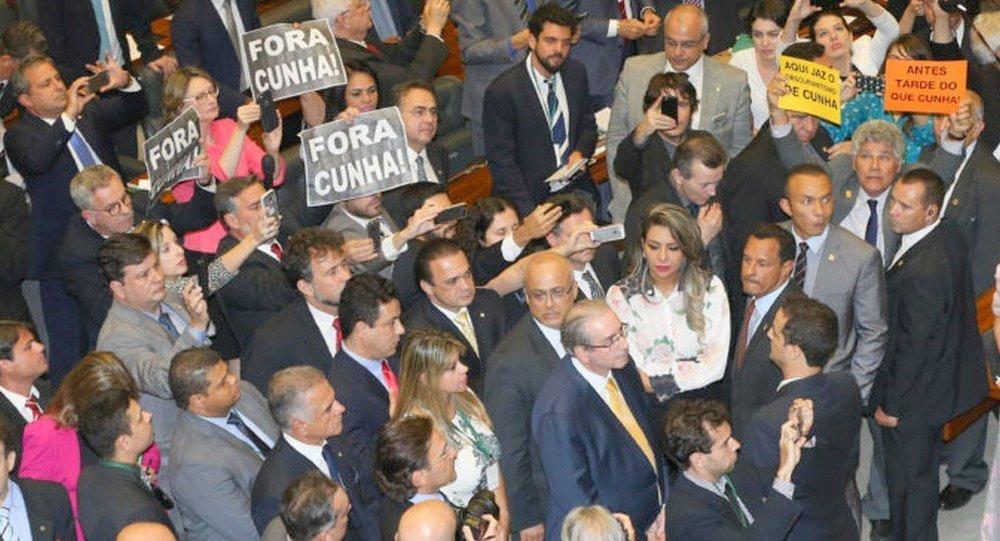 Sessão de cassação de Eduardo Cunha na Câmara