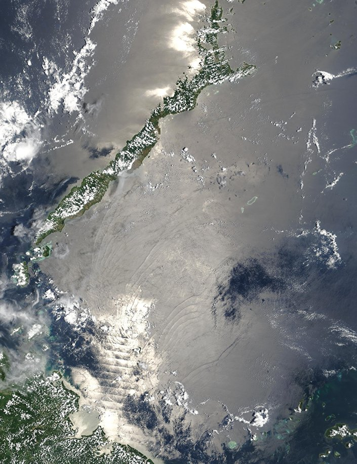 Imagem do mar de Sulu do site oficial da NASA
