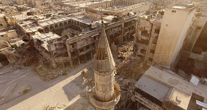 Bairros leste da cidade de Aleppo, Síria, 2016 (foto de arquivo)