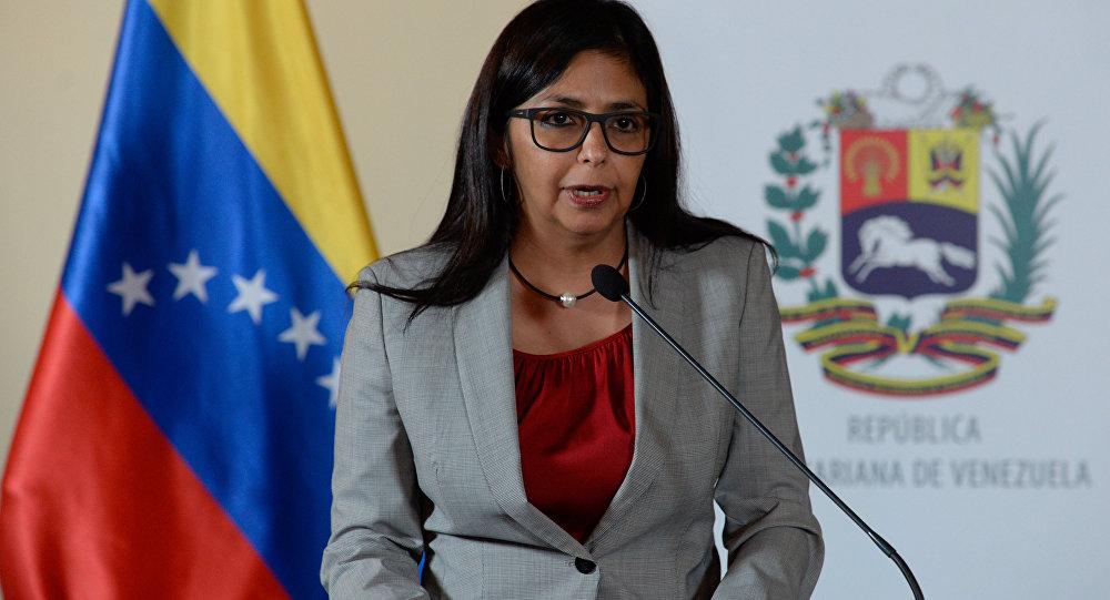 Delcy Rodríguez, ministra das Relações Exteriores da Venezuela (arquivo)