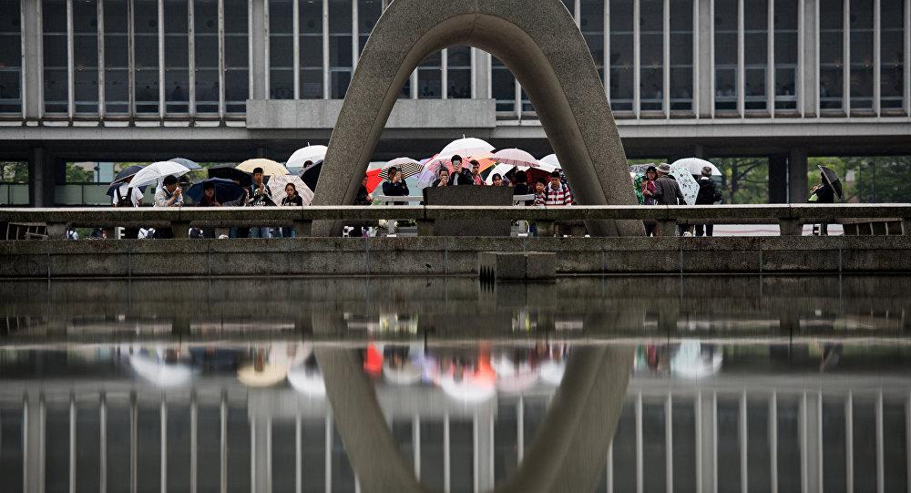 Monumento da Paz em Hiroshima, 25 de maio de 2016