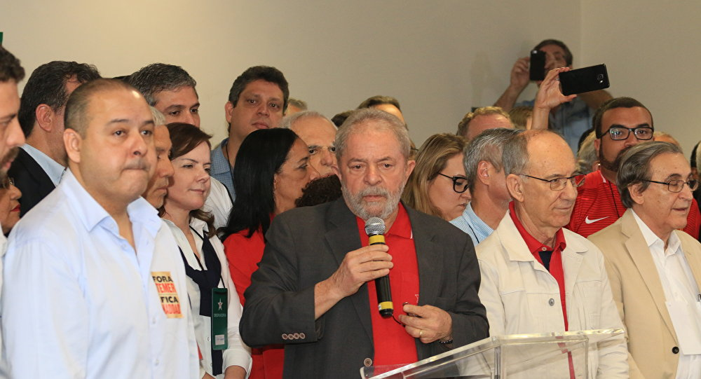 Lula discursa sobre a denúncia do Ministério Público Federal