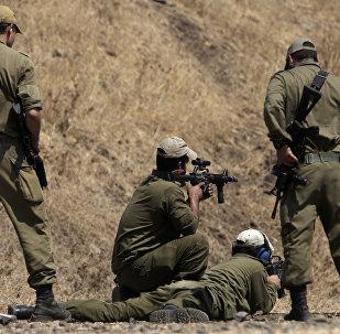 Soldados de Israel nas Colinas de Golã