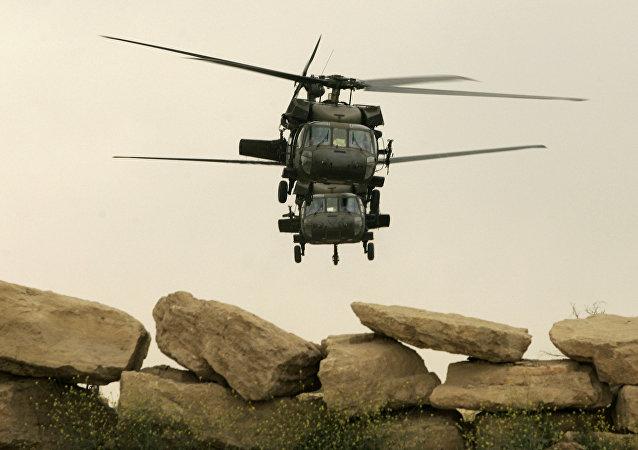 Helicópteros das Forças Armadas dos EUA em Mossul (Arquivo)