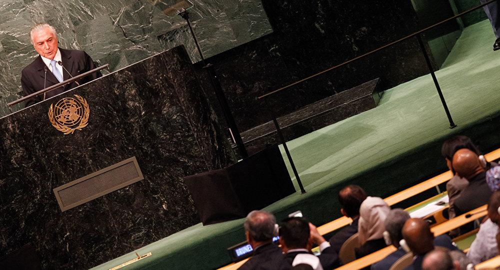 Temer defende reforma no Conselho de Segurança em discurso que inaugurou a 71ª Assembleia Geral da Organização das Nações Unidas