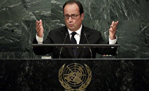 Presidente da França, François Hollande, discursa na 71ª Assembleia Geral da ONU