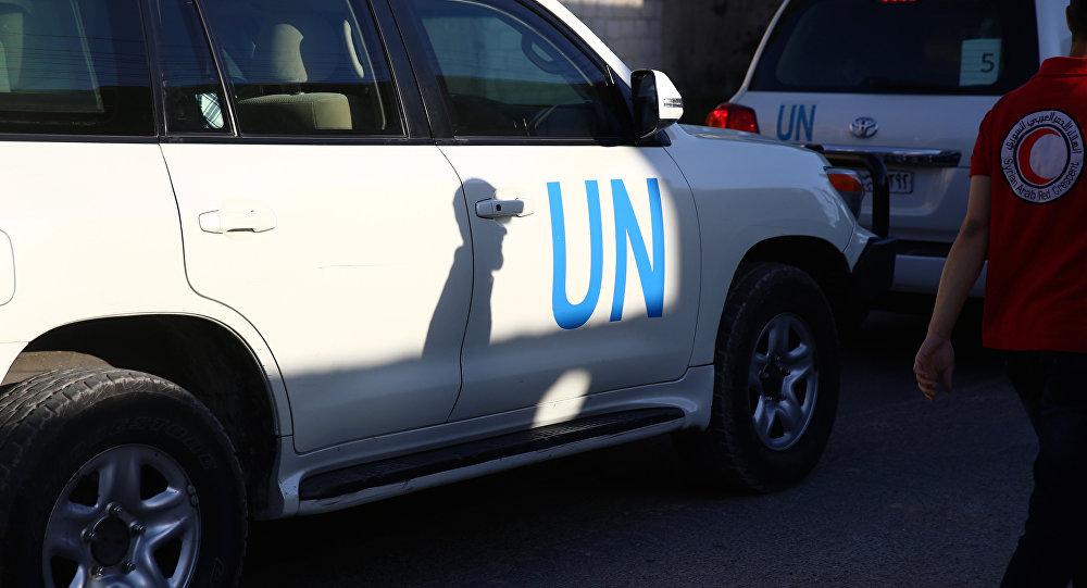 Veículo de ajuda humanitária da ONU