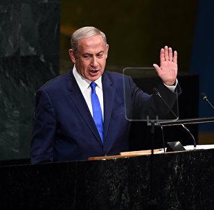 Benjamin Netanyahu, premier de Israel, em discurso na 71ª Assembleia Geral da ONU