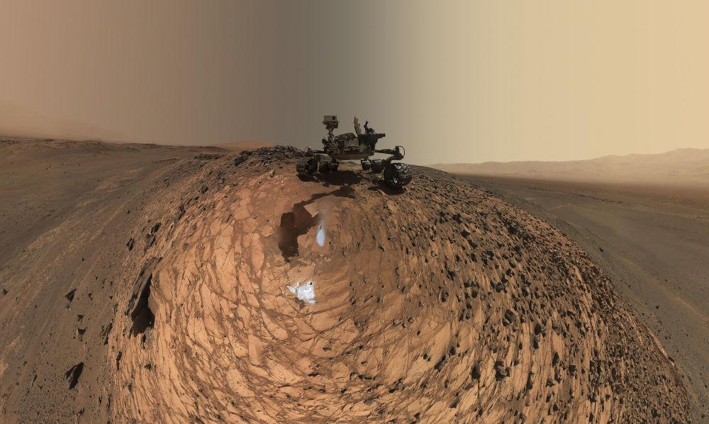 Selfie do rover Curiosity tirada perto do poço de perfuração de Buckskin, Marte