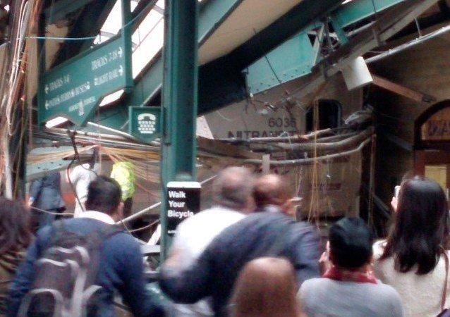 Acidente de trem na estação em Nova Jersey 29 de setembro de 2016