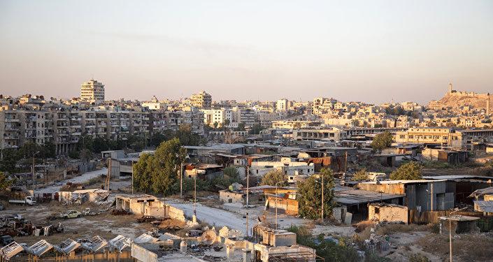 Região controlada por rebeldes em Aleppo - foto de 29 de julho de 2016