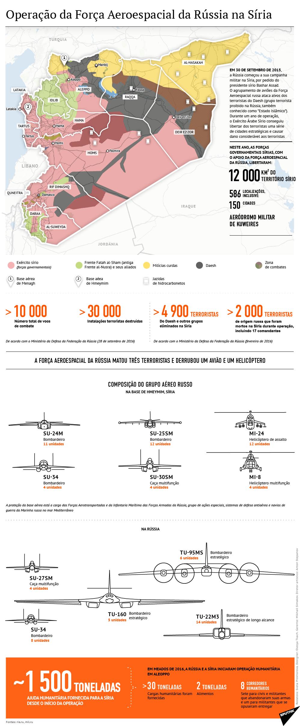Estrutura e resultados da operação russa na Síria