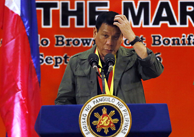 Presidente filipino Rodrigo Duterte