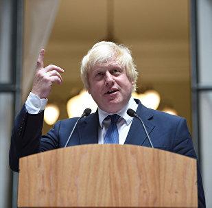 Ministro das Relações Exteriores da Grã-Bretanha, Boris Johnson, 14 de julho de 2016