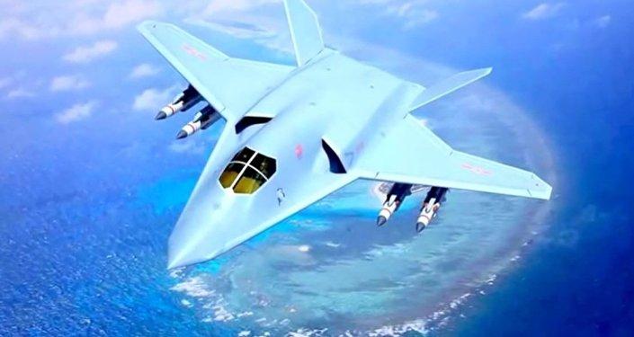 Conceito do caça-bombardeio hipersônico stealth H-20