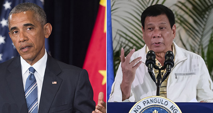 Combinação de fotos do presidente dos EUA Barack Obama (à esquerda) e do líder filipino Rodrigo Duterte (à direita)