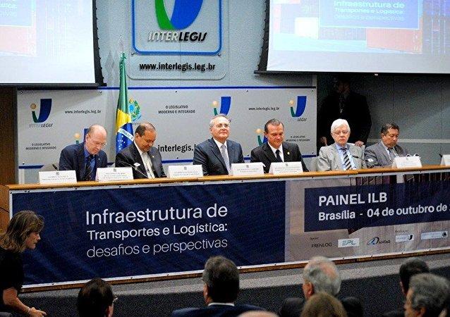 Renan Calheiros no seminário Infraestrutura de Transportes e Logística