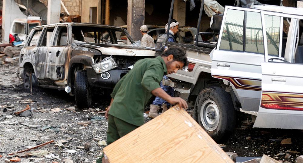 Bombardeio na capital do Iêmen neste sábado deixou grande número de mortos e feridos