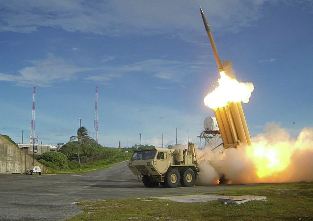 Teste de dois interceptadores do sistema norte-americano THAAD (Terminal High Altitude Area Defense)