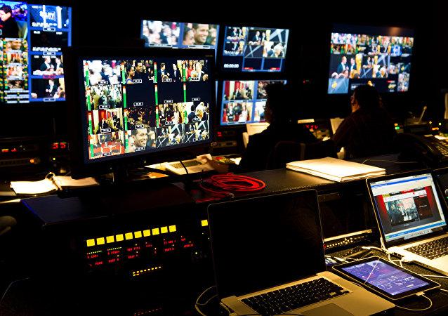 Sala no estúdio de televisão