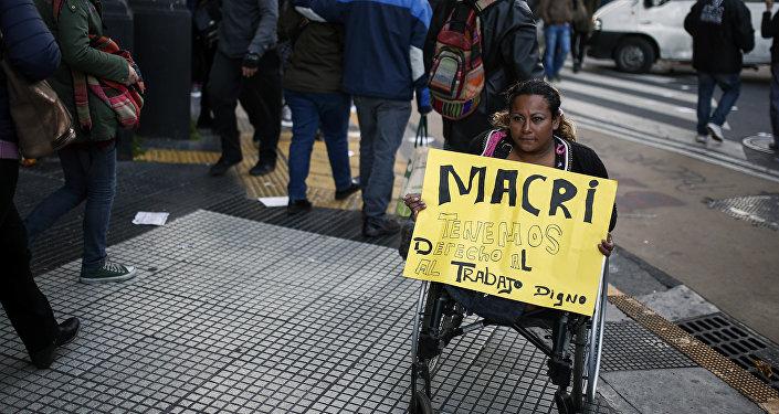 Protesto de trabalhadores em Buenos Aires, Argentina (arquivo)