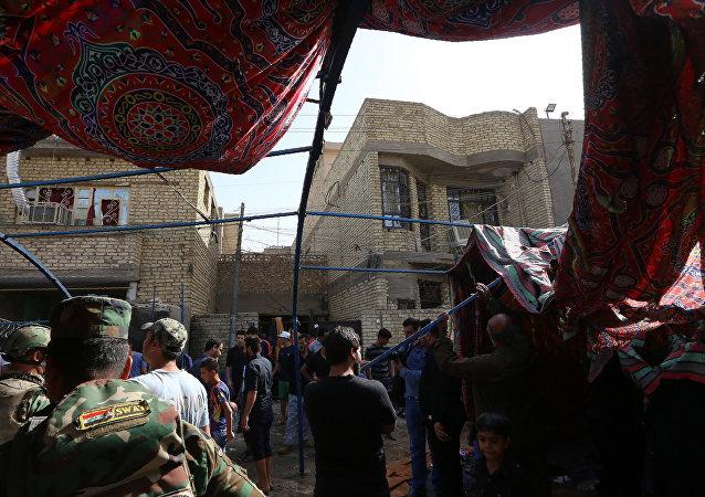 Tenda funerária atacada por homem-bomba do Daesh em Bagdá