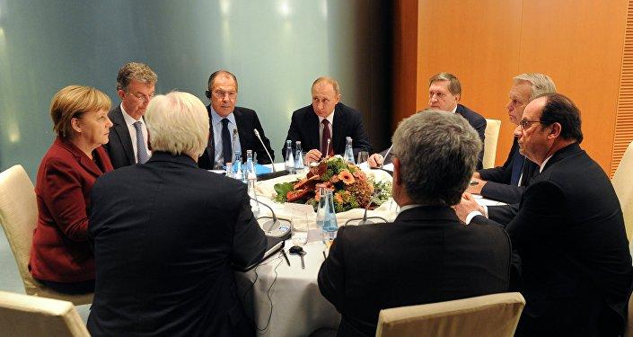 Encontro dos líderes do Quarteto da Normandia em Berlim, Alemanha, 19 de outubro de 2016