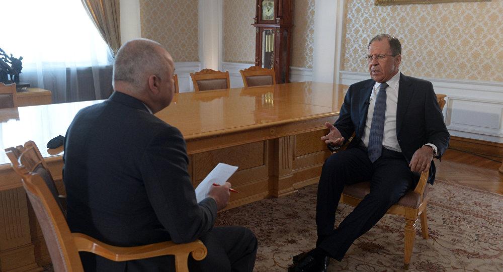 Entrevista do ministro das relações exteriores da Rússia Serguey Lavrov ao diretor-geral da agência Rossya Segodnya Dmitry Kisilev