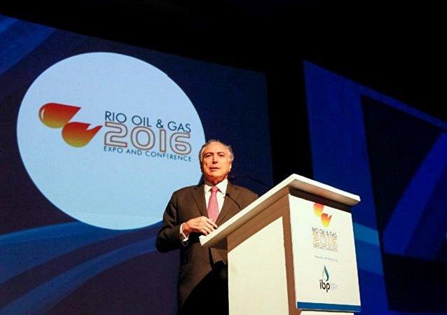 Presidente Michel Temer na abertura da Conferência Rio Oil & Gas 2016 no Rio