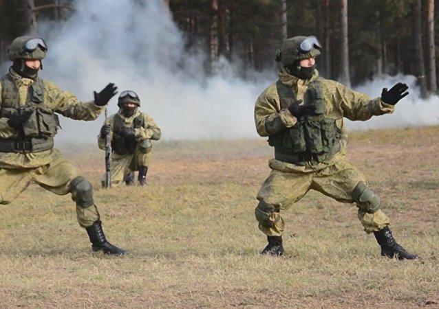 Forças de elite da Rússia em ação