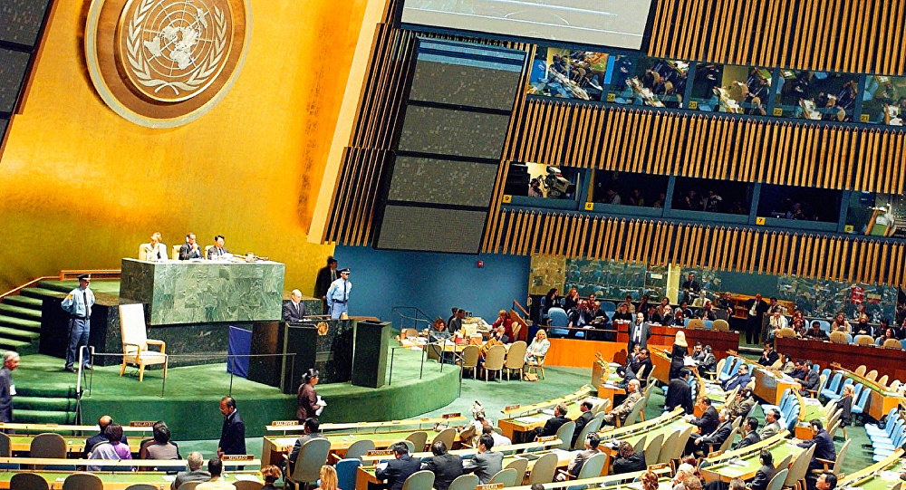 Vladimir Putin at the 58th session of the UN General Assembly