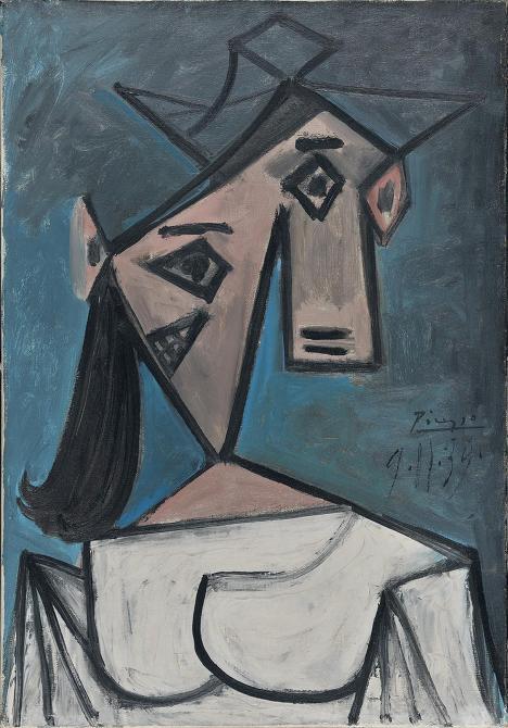 Cabeça de Mulher (1939), roubado da Galeria Nacional de Atenas em janeiro de 2012