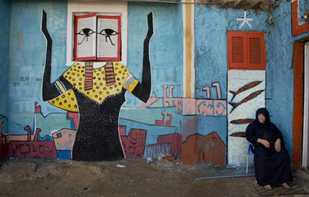Pelo terceiro ano consecutivo na cidade egípcia de Burullus se realiza um festival de arte. Grafiteiros de todo o mundo vêm a este povoado de pescadores para pintar as paredes